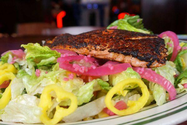 Blackened Salmon Chopped Salad