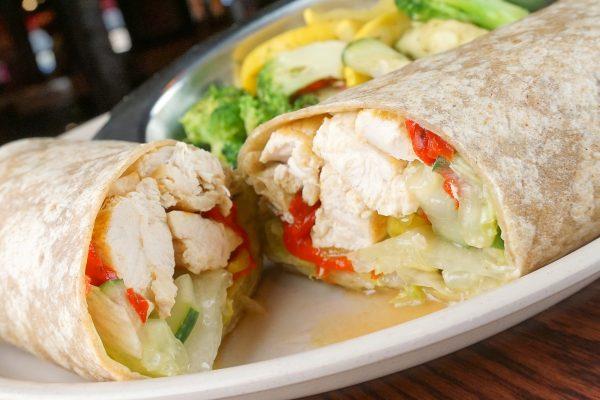 Seared Chicken Mediterranean Wrap